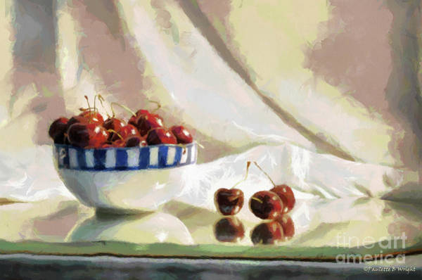 Photograph - Cherry Still Life by Paulette B Wright