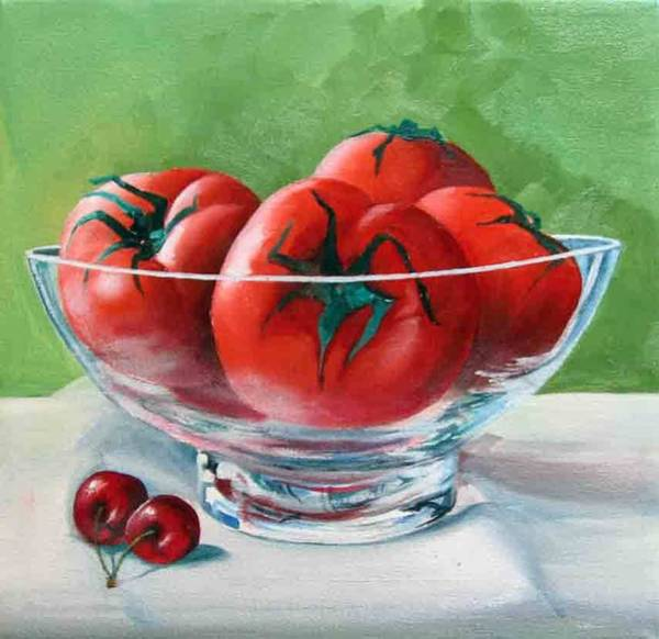 Painting - Cherry Tomatoes by Tim Johnson