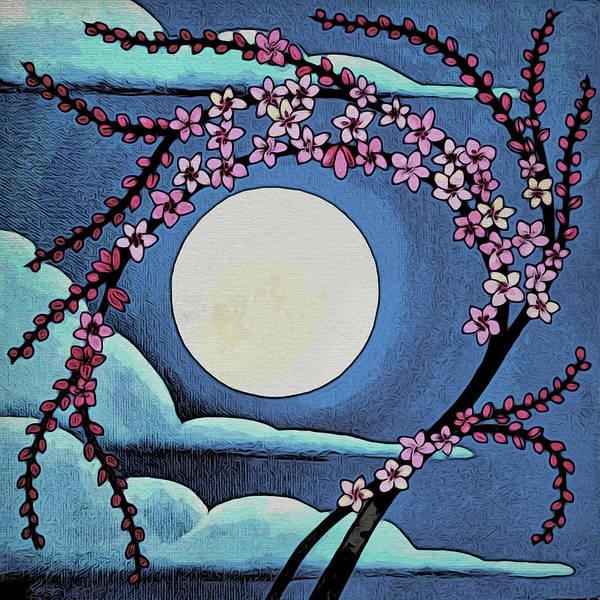 Digital Art - Cherry Whip Moon by Paisley O'Farrell
