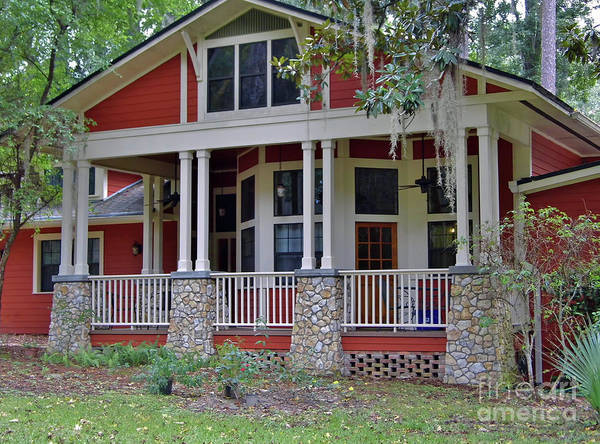 Photograph - Chert Columns On The Red House by D Hackett