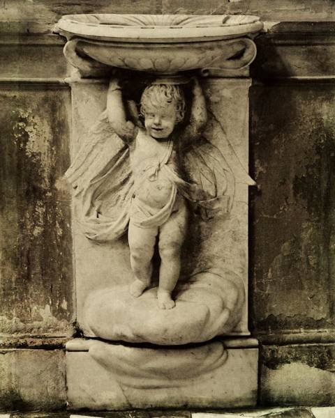 Photograph - Cherub Angel In Sepia by Patricia Strand