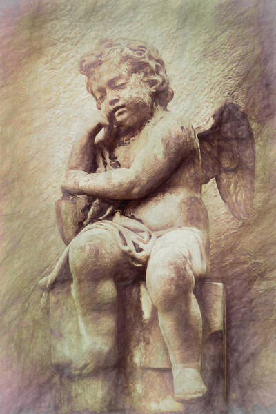 Graveyard Wall Art - Photograph - Cherub by Tom Mc Nemar