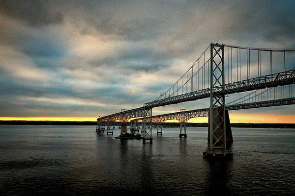 Chesapeake Bay Bridge At Twilight Art Print