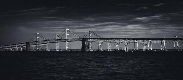 Maryland Photograph - Chesapeake Bay Bridge by Robert Fawcett