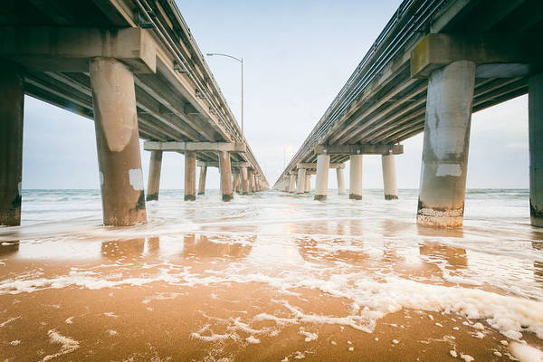 Photograph - Chesapeake Bay Bridge Tunnel by Lisa McStamp