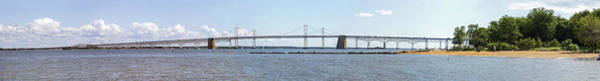 Sandy Point State Park Photograph - Chesapeake Bay Bridge - Wide Pano by Brian Wallace