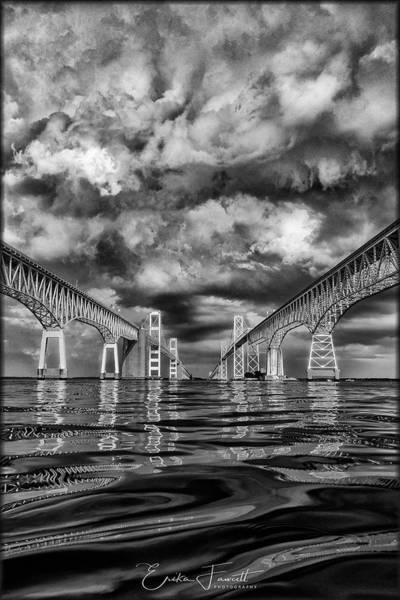 Photograph - Chesapeake Bay Bw by Erika Fawcett
