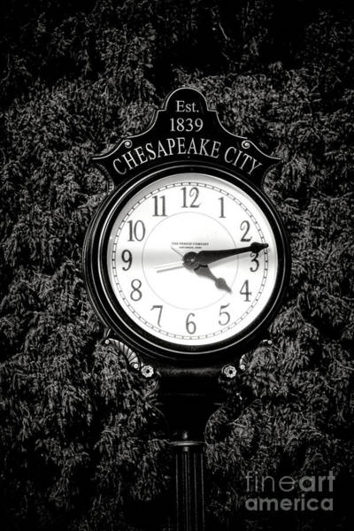 Photograph - Chesapeake City Clock by Olivier Le Queinec