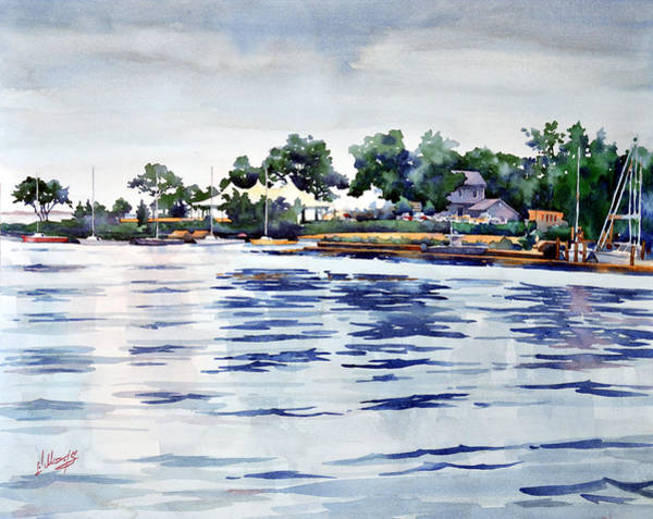 Waterway Painting - Chesapeake Rain by Mick Williams