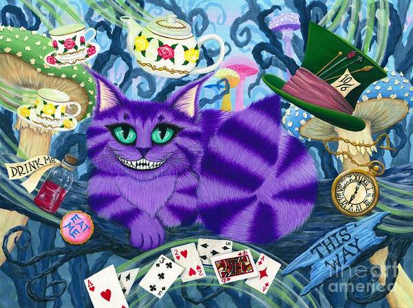 Painting - Cheshire Cat - Alice In Wonderland by Carrie Hawks