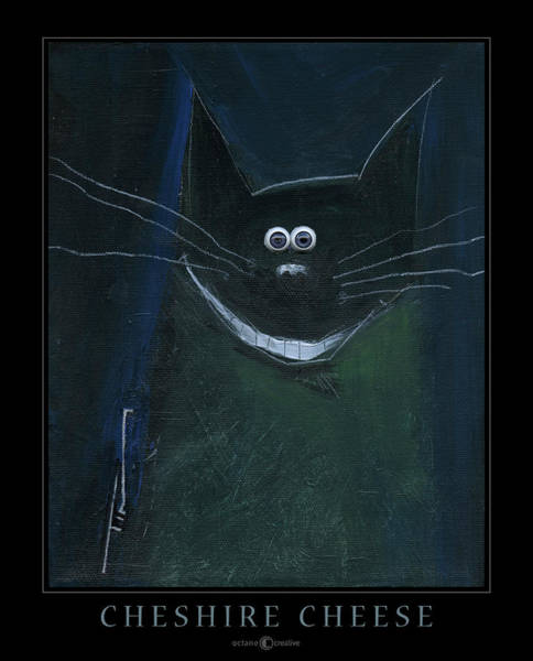 Painting - Cheshire Cat Poster by Tim Nyberg