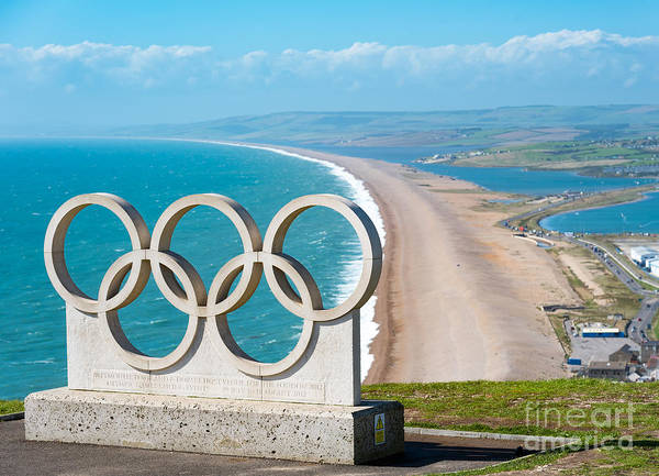 Photograph - Chesil Beach And Olympic Rings by Colin Rayner