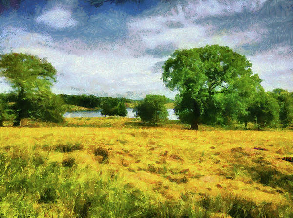 Painting - Chesire England Landscape Monet Style by Matthias Hauser