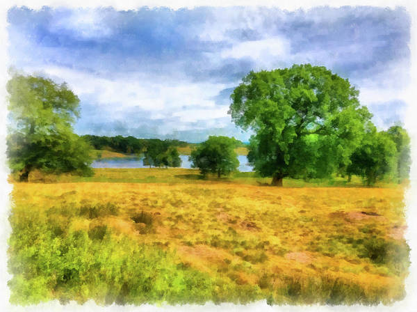 Photograph - Chesire England Landscape Watercolor Edition 01 by Matthias Hauser
