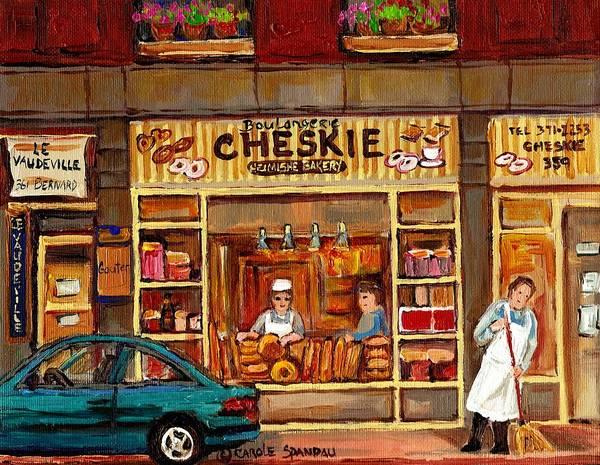 Lchaim Painting - Cheskies Hamishe Bakery by Carole Spandau
