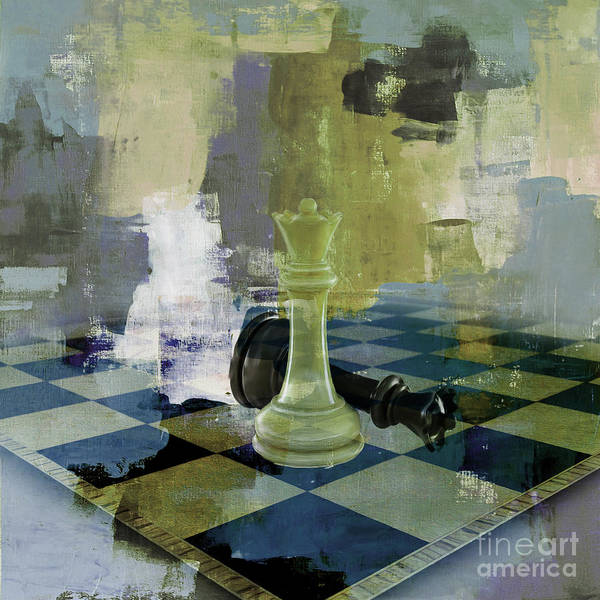 Wall Art - Painting - Chess Board 01 by Gull G