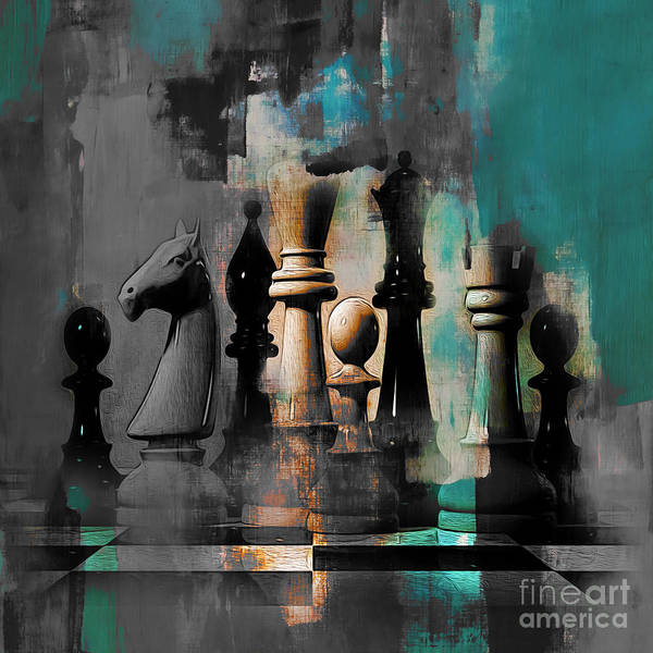 Wall Art - Painting - Chess Board 87 by Gull G