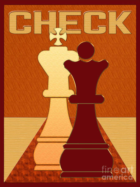 Digital Art - Chess Check by Carlos Diaz