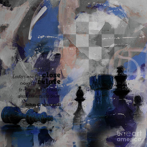 Wall Art - Painting - Chess Game Board Painting  by Gull G