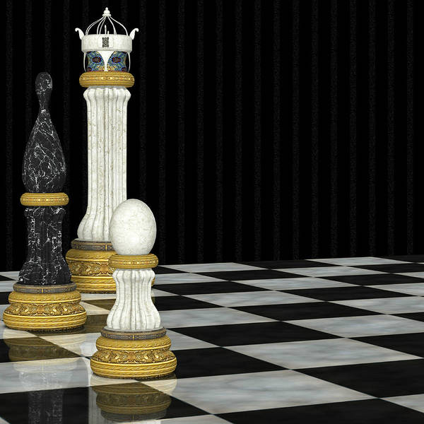 Digital Art - Chess Game by Digital Art Cafe