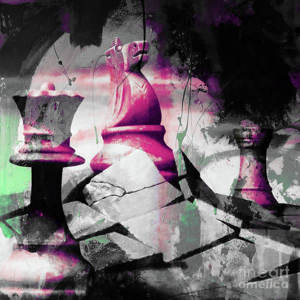 Wall Art - Painting - Chess Horse by Gull G