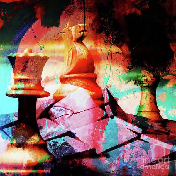Wall Art - Painting - Chess King by Gull G