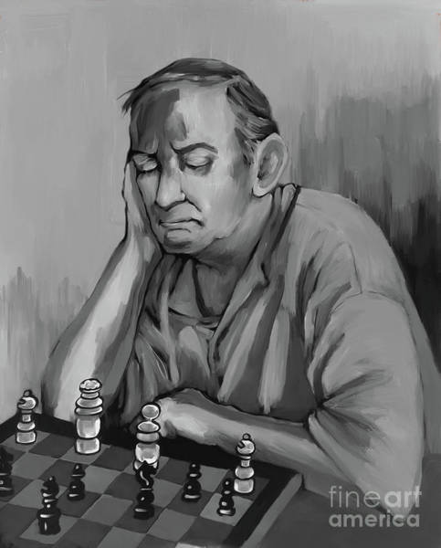 Master Piece Painting - Chess Master  by Gull G