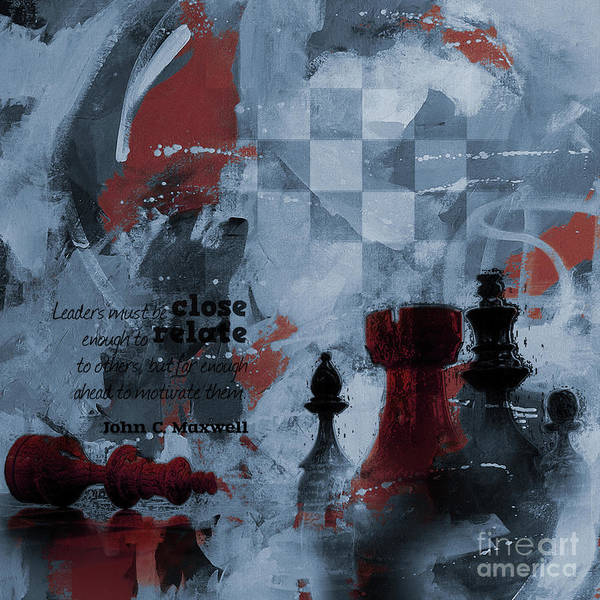 Wall Art - Painting - Chess Painting Art  by Gull G