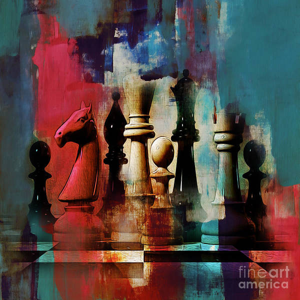 Wall Art - Painting - Chess Painting by Gull G