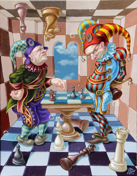 Painting - Chess Players by Victor Molev