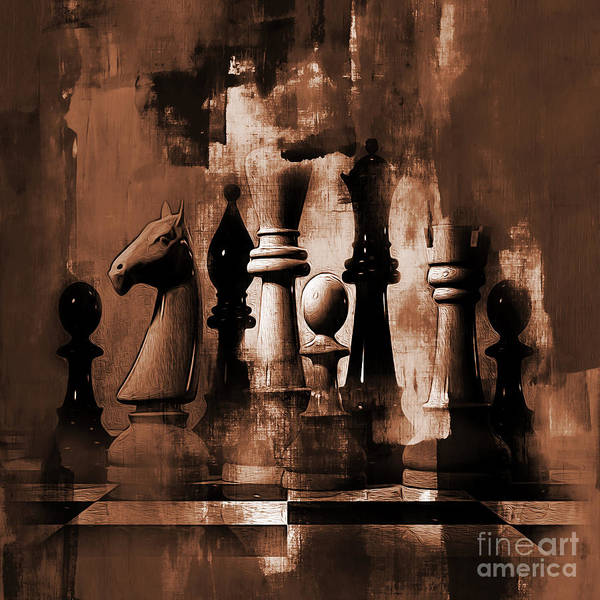 Wall Art - Painting - Chess Queen 01b by Gull G
