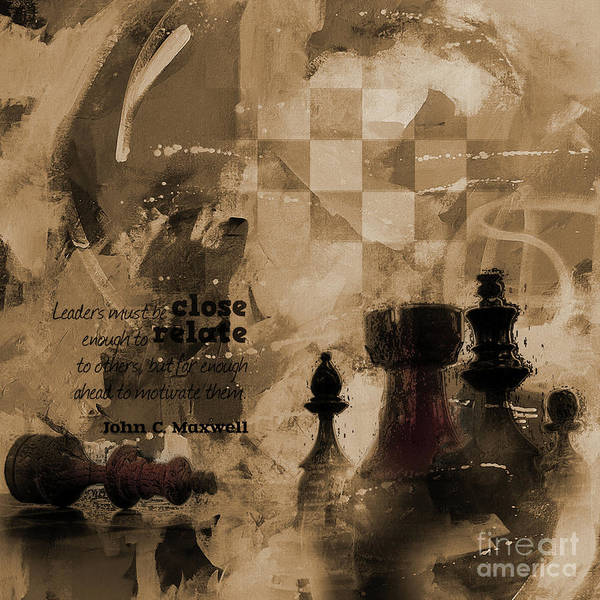Wall Art - Painting - Chess Queen And King by Gull G