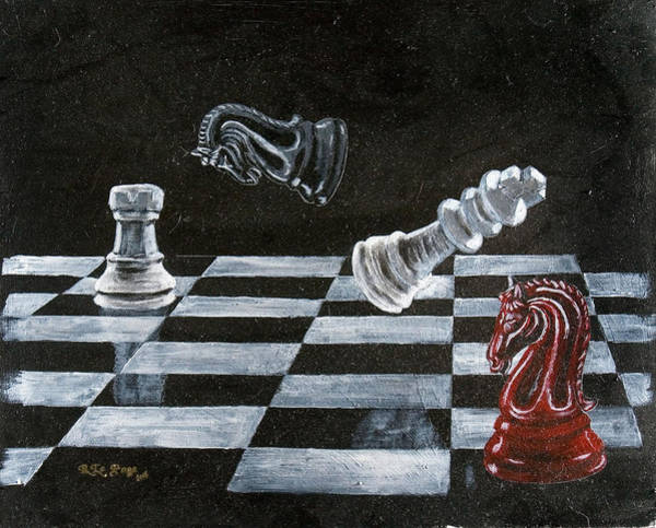 Painting - Chess by Richard Le Page
