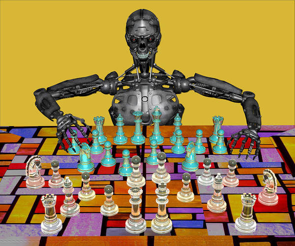 Photograph - Futuristic Chess Series 04 by Carlos Diaz