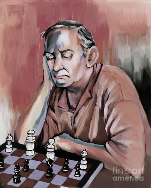 Master Piece Painting - Chess The Master  by Gull G