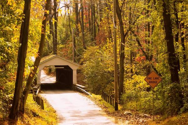 Photograph - Chester County Covered Bridge by Susan Maxwell Schmidt