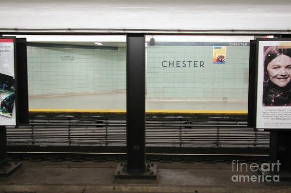 Chester Station Toronto Art Print