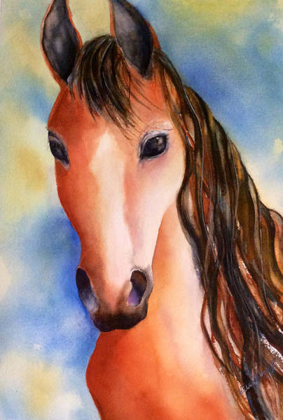Painting - Chestnut Horse by Hilda Vandergriff