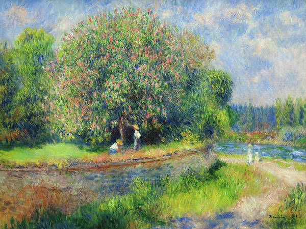 Painting - Chestnut Tree In Bloom By Pierre Auguste Renoir 1881 by Movie Poster Prints