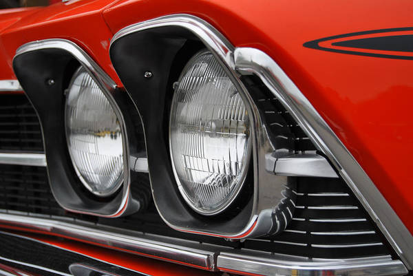 Photograph - Chevelle Headlights by Nathan Little