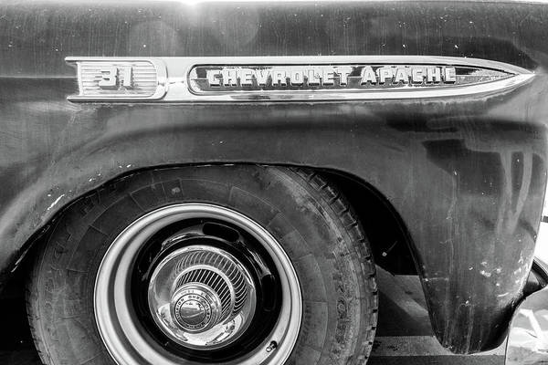 Photograph - Chevrolet Apache Fender by SR Green