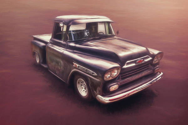 Black Car Photograph - Chevrolet Apache Pickup by Scott Norris