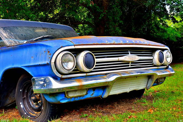 Photograph - Chevrolet Bel Air 3 by Lisa Wooten