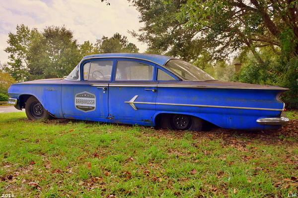 Photograph - Chevrolet Bel Air 4 by Lisa Wooten