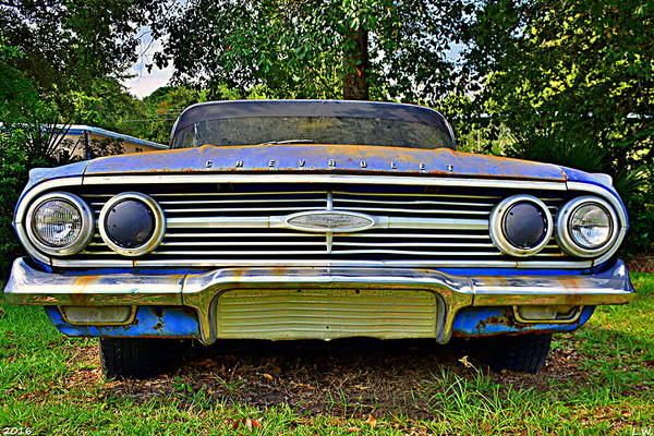 Photograph - Chevrolet Bel Air 5 by Lisa Wooten