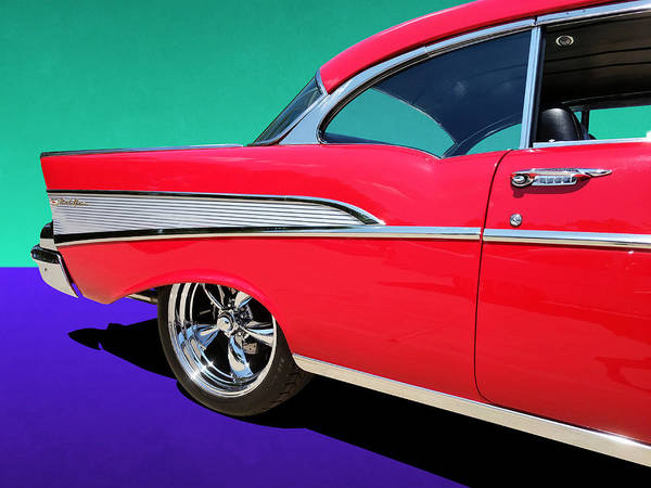 Photograph - Chevrolet Bel Air Rear Panel Color Pop by Debi Dalio