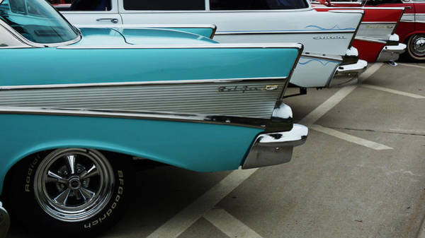 Wall Art - Photograph - Chevrolet Bel Air Wings. by Garth Glazier