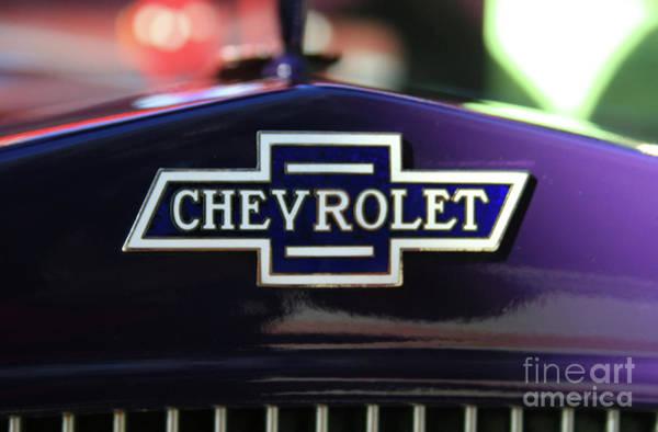 Photograph - Chevrolet Bowtie by Tony Baca