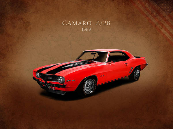 Muscle Photograph - Chevrolet Camaro Z 28 by Mark Rogan