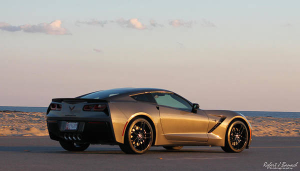 Photograph - Chevrolet Corvette On The Beach by Robert Banach